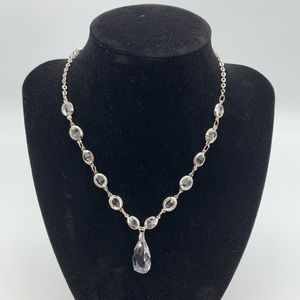 Cookie Lee silver and crystal necklace